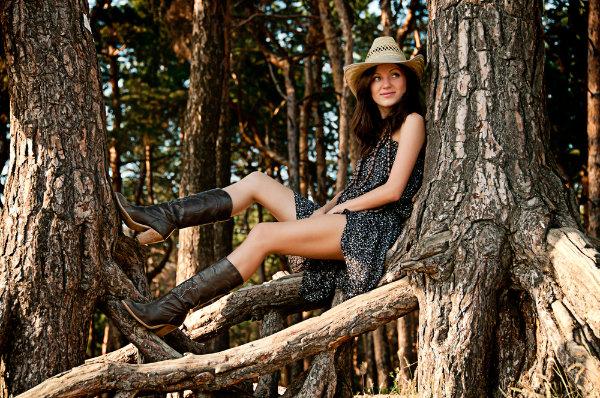 Cowboystiefel zum Kleid (2)