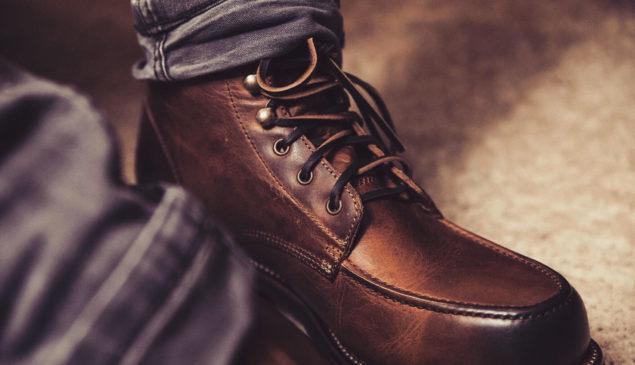 Brauner Schnürstiefel für Herren