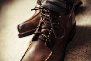 Braune Schnürstiefel für Herren Stiefel Trend